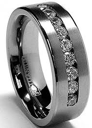 titanium mens wedding bands 8 mm men s titanium ring wedding band with 9 large