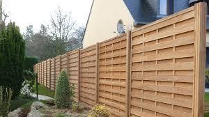 cloture de jardin pas cher panneaux pour cloture exterieur palissade en bois pas cher idmaison