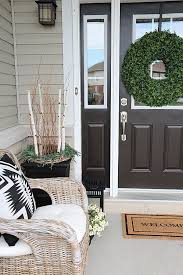 Front Door Planters by Decorating With Indigo Blue Black And Gray Shades Of Summer