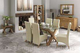 Dining Room Furniture Oak Ivory Leather Dining Room Chairs Completure Co