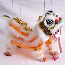 lion puppet kiosk museum marionette style puppet new year