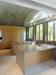 using concrete counter to maximize kitchen decoration