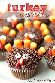 thanksgiving turkey cupcakes from http sixsistersstuff