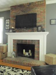 view how to mount tv on brick fireplace home decoration ideas