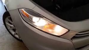 dodge dart change 2013 2016 dodge dart testing headlights after changing bulbs