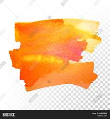 Orange Paint by Abstract Watercolor Art Hand Paint Isolated On Transparent