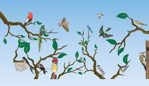 birds on trees vector vectorish