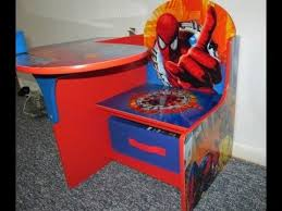 Children Chair Desk My 4 Year Old With His Delta Children Spiderman Chair Desk Youtube