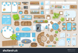 furniture clipart for floor plans icons set interior top view isolated stock vector 529598362