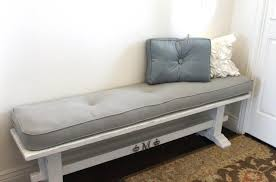 simple white indoor bench cushion for small storage bench indoor