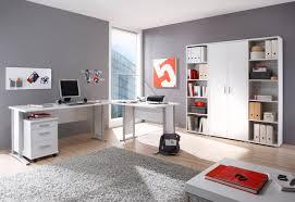 Schreibtisch Winkelkombination Schreibtisch Office Line Mit Rollcontainer Eiche Sonoma Front Weiß
