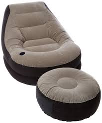 Sofa Bed With Inflatable Mattress by Blow Up Chair W Footrest Inflatable Ottoman Recliner Couch Bed