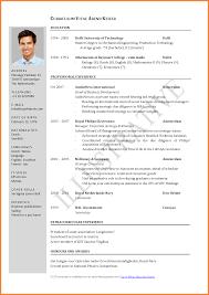 resume doc format cv format doc resume exles