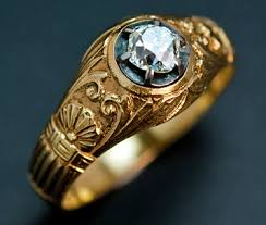 mens gold diamond rings vintage rings gold diamond men s ring antique ring antique