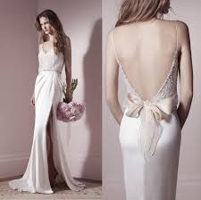 designer wedding dresses gowns 2014 new lihi hod designer spaghetti backless wedding dress