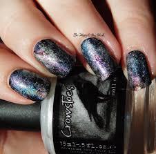 crowstoes nail color pearls of wisdom galaxy nail art be happy