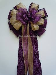 purple gold bow purple and gold wedding bow by
