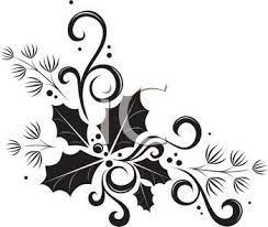 borders and frames black and white psd design holidays clip