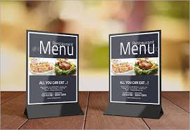 table tent template word 8 sle table tents psd vector