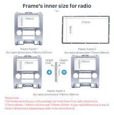 Ford Escape Dimensions - silver 2din car radio fascia for ford escape mazda tribute mercury