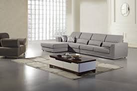 furniture beige microfiber sectional with decorative cushions and