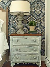 Traditional Nightstands Give Plain Nightstands Rustic Charm With Milk Paint Hgtv