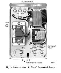 honeywell l8148e1299 24v line voltage aquastat relay