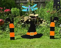 Outdoor Halloween Decorations Witches outdoor halloween etsy