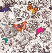 butterfly garden by osborne original multi wallpaper direct