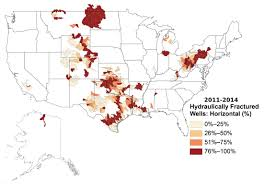 Us Map Showing States by Map Hydraulically Fractured Wells