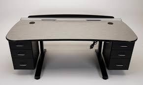 ergo vanguard height adjustable desks with monitor track martin