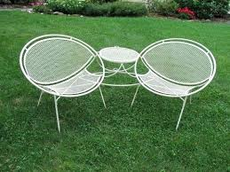 mid century lawn furniture lovable vintage metal patio table and