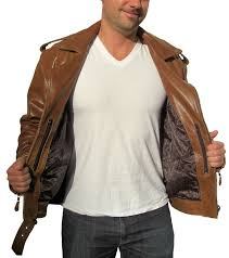 Men U0027s Retro Brown Buffalo Hide Classic Leather Motorcycle Jacket
