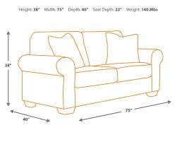 Couch Depth Amazon Com Ashley Furniture Signature Design Axiom Sofa