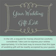 wedding gift list uk can i ask for money for my wedding gift list
