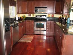 Modern Wood Kitchen Cabinets Brown Wooden Kitchen Cabinets U Shaped Kitchen Stainless Steel Pan