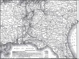 Map Of Florida And Alabama by Louisville U0026 Nashville Railroad 1903 System Map Georgia Alabama
