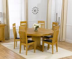Solid Oak Dining Table And 6 Chairs Dining Table For 6 Iron Wood