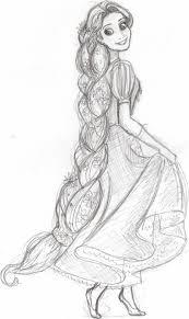 hell yeah tangled rapunzel sketch disney coloring