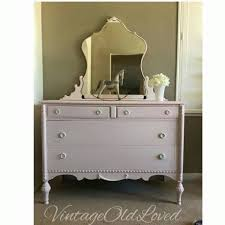 vintage painted 1930s dresser pink white washed painted