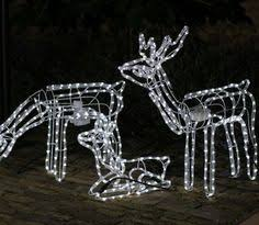 light up standing white reindeer outdoor christmas decoration