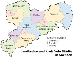 Map Of Germany Cities by Saxony Wikipedia