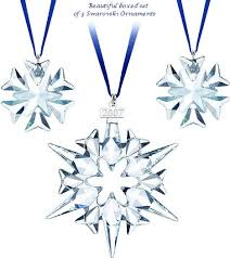 Swarovski Christmas Decorations 2012 by Ornaments Retired Dated Sw Annual Edition Stars And Snowflakes