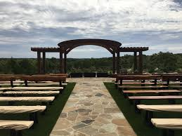 mckinney wedding venues outdoor ceremony area at crest venue near mckinney tx dfw