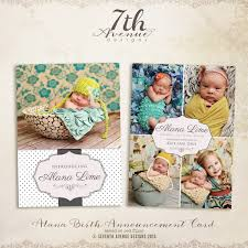 alana birth announcement card templates cards alanabac 4 00
