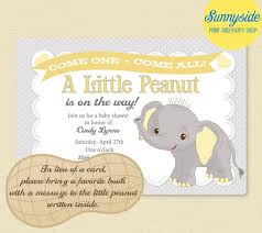 peanut baby shower baby elephant peanut baby shower invitation boys