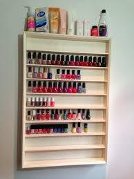 diy nail polish rack youtube