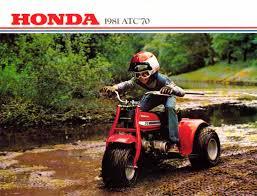 1975 honda atc 90 k3 u0026 atc 70 k1 three wheelers brochure vintage