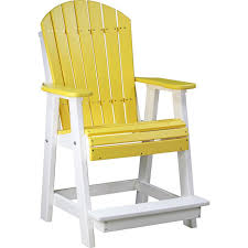 luxcraft adirondack recycled plastic balcony chair rocking furniture
