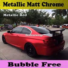 velvet wrapped cars 3m quality chrome satin red vinyl car wrapping with air bubble